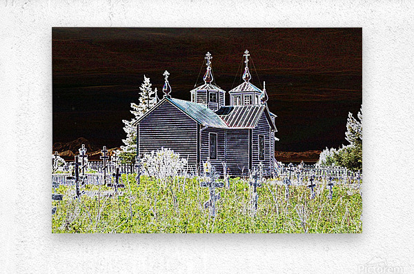 Church in Alaska  Metal print