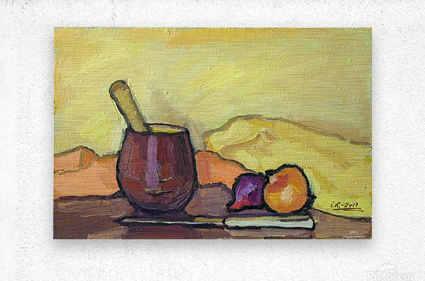 Still Life with Pounder  Metal print