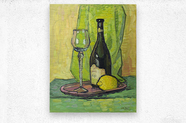 Still Life with Lemon  Metal print
