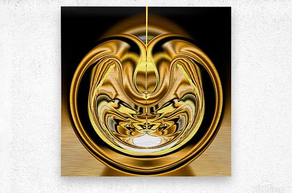 GoldTone2  Metal print