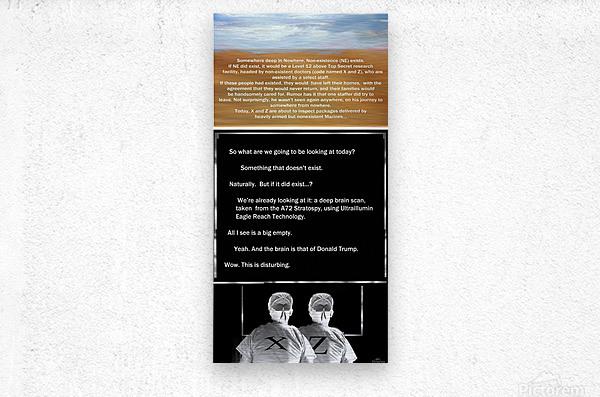 NonExistence  Metal print