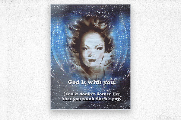 God Is With You2  Metal print