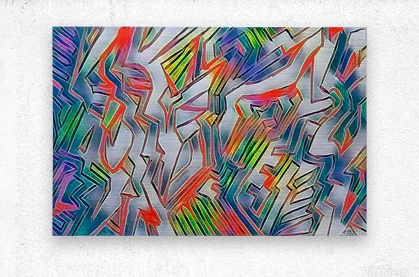 nyrneon  Metal print