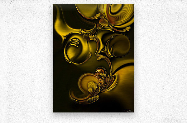 Abstraction With Meditation  Metal print