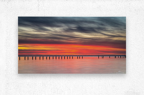 Striking Sunset at Clifton Springs  Metal print