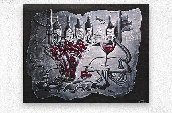 My favorite merlot  Metal print