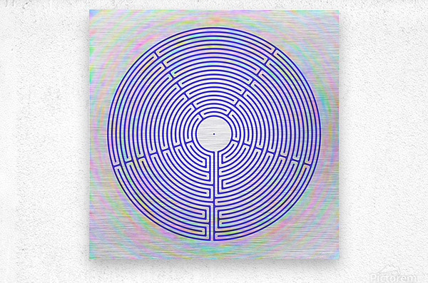 BLUE23  Metal print