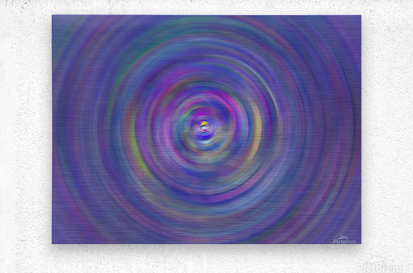 swirl color  Metal print
