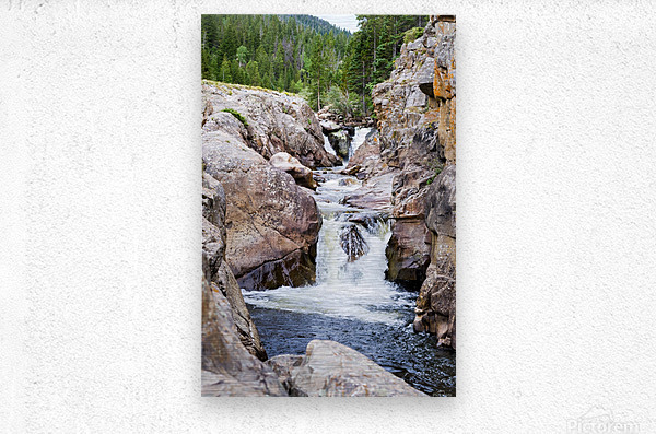 Colorado Waterfall  -  Poudre River   Impression metal