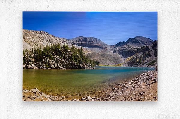 Lake Agnes CO - Glacial Lake   Impression metal