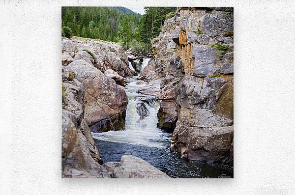 Poudre River Colorado  Impression metal