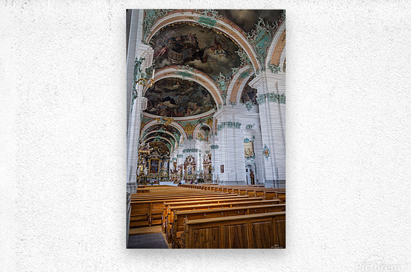 Church Pews  Metal print