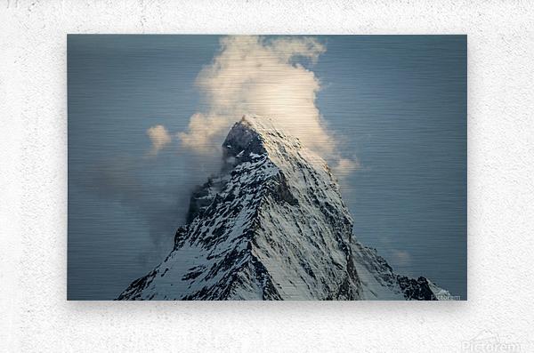 Matterhorn Glow Blue  Metal print