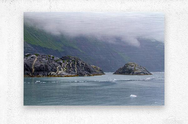 Alaska Scenery Pictures of Icebergs   Impression metal