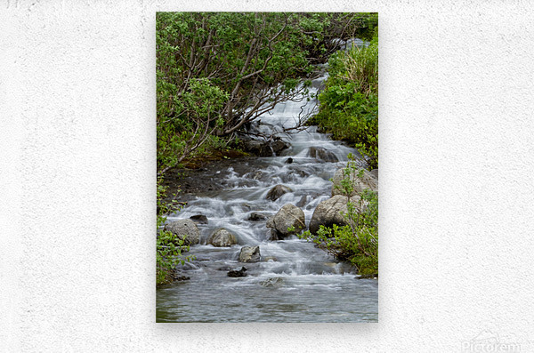 Beautiful Waterfall Picture in Alaska  Metal print