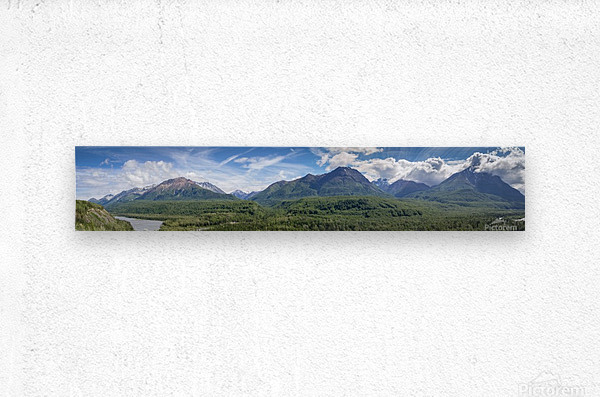 Photos Alaska Mountain Panorama  Metal print