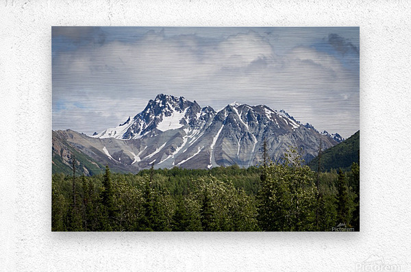 Alaska Mountain Range  Metal print