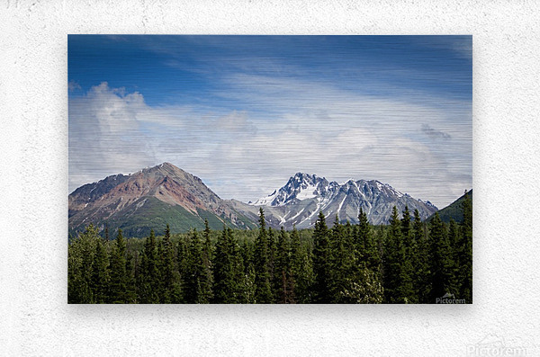 Photos Alaska Mountains  Impression metal