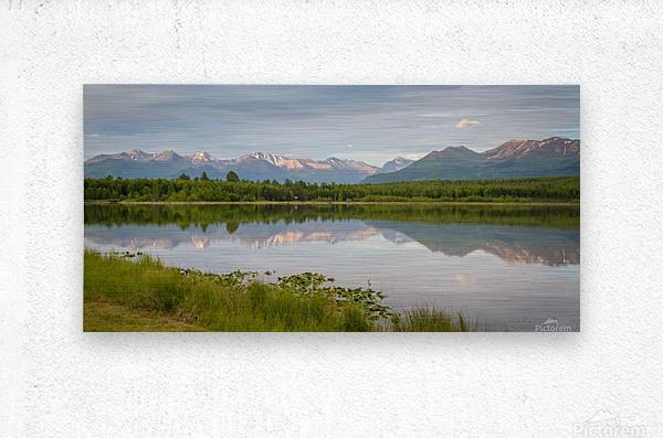Photos Alaska Mountain  Impression metal