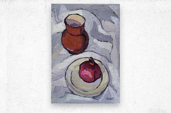 Still Life with Pomegranate  Metal print