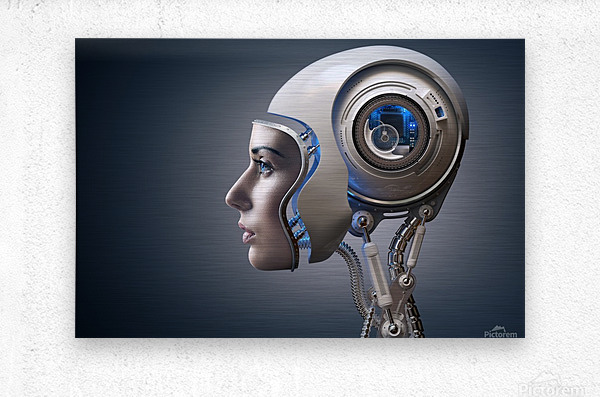 Next Generation Cyborg  Metal print