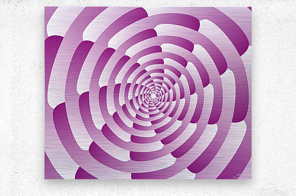 Abstract Pink Spiral Art   Metal print