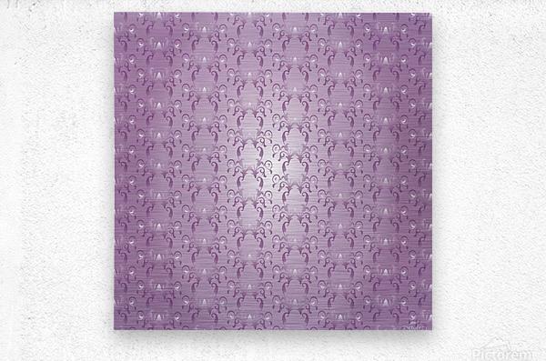 Ornamental Pink Artwork  Metal print