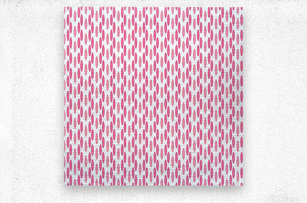Pink Seamless Pattern Artwork  Metal print