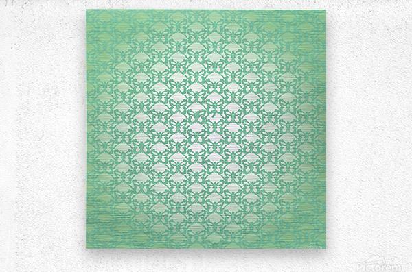 Ornamental Art Pattern Artwork  Metal print
