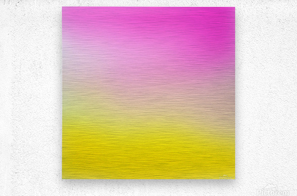 pink to yellow Gradient Background  Metal print