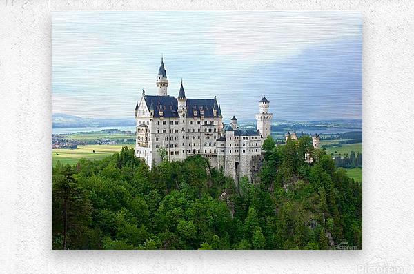 Nueschwanstein Castle  Metal print
