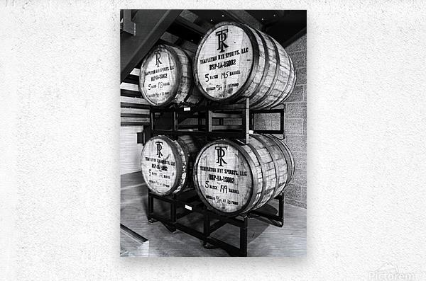 Whisky Barrels  Metal print