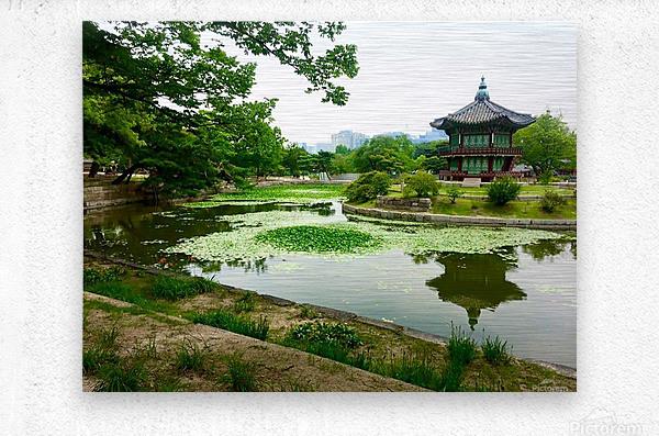 Korean Temple  Metal print