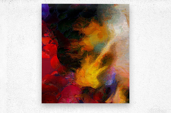 Colorful oil on canvas  Metal print
