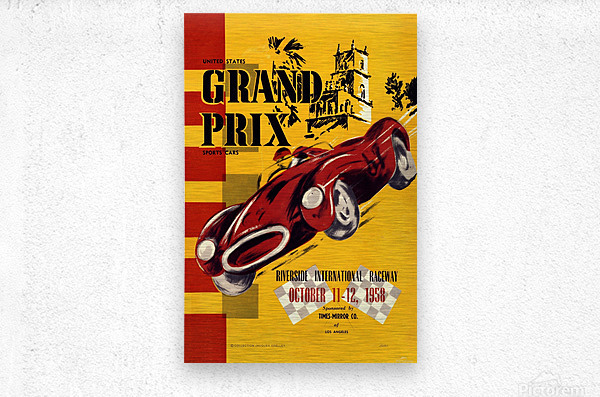 Us Grand Prix Sports Riverside International Raceway 1958  Metal print