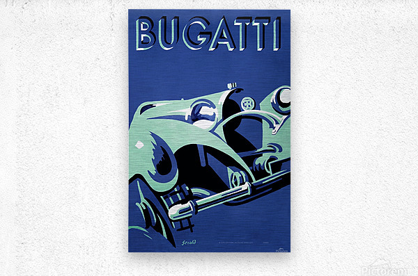 Bugatti Type 50 Super Roadster 1932  Metal print