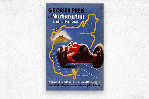 German Grand Prix Grosser Preis Vom Nurburgring 1949  Metal print