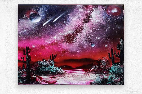 Cactus galaxy  Metal print
