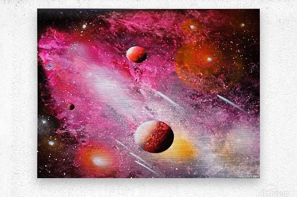 Fish galaxy  Metal print