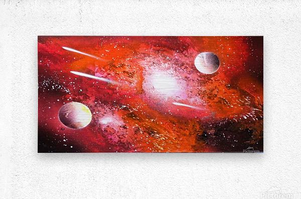 Marigold galaxy  Metal print