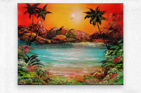 Jungle beach  Metal print