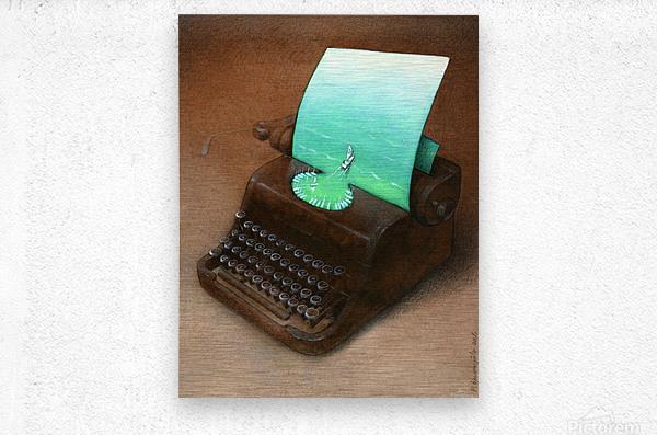 typewriter  Impression metal