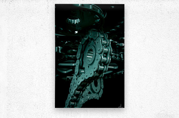 Tiffany chain  Metal print