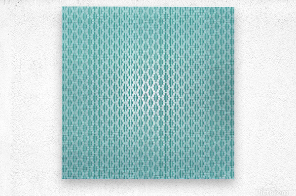 Green Diamond Art  Metal print