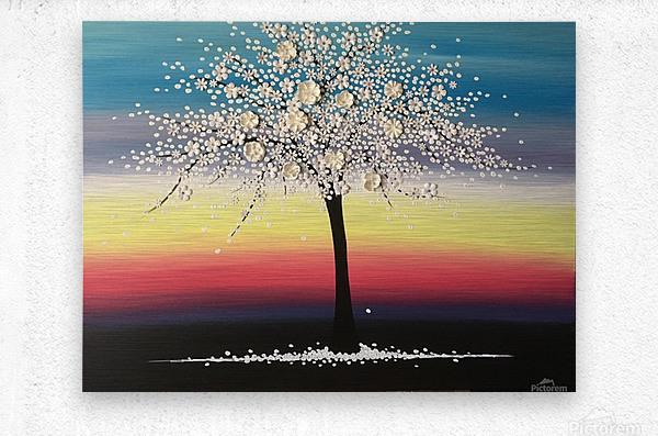 Colorful Blooms  Metal print