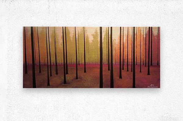 Sherbert Forest  Metal print