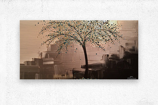 Tree of Treasures  Metal print