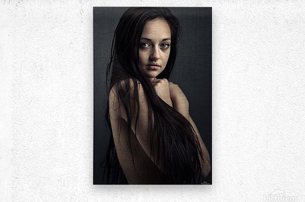 Innocent young woman  Metal print