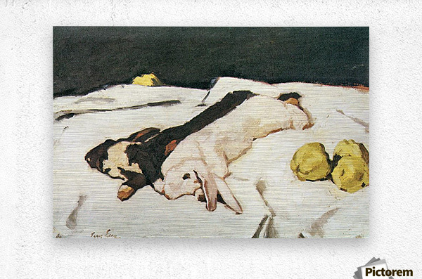 Dead hares by Albin Egger-Lienz  Metal print