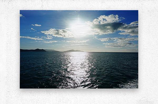 Sea Sun  Metal print